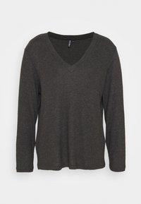 PCCIRCLE - Long sleeved top - dark grey malange