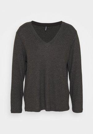 PCCIRCLE - Pitkähihainen paita - dark grey malange