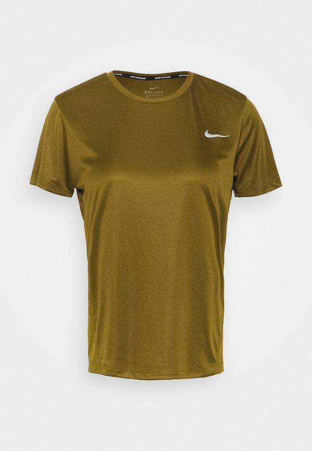MILER  - Print T-shirt - olive flak/reflective silver