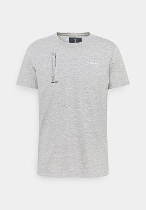 TEE - T-shirt med print - grey melange