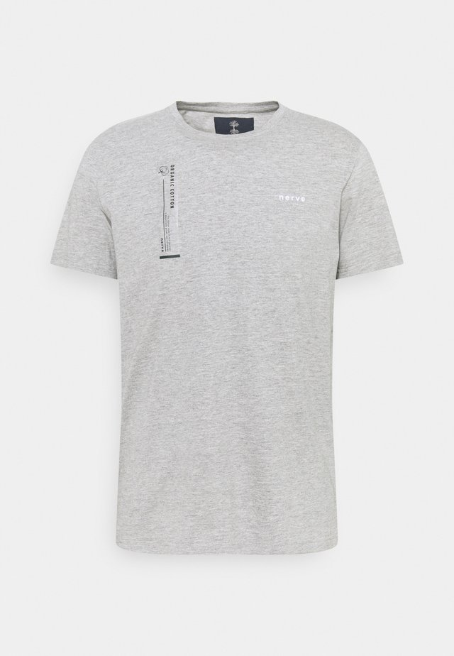 TEE - T-shirt print - grey melange