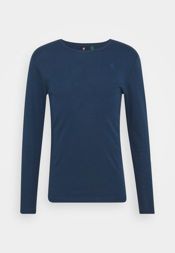 BASE R T L\S  - Long sleeved top - luna blue