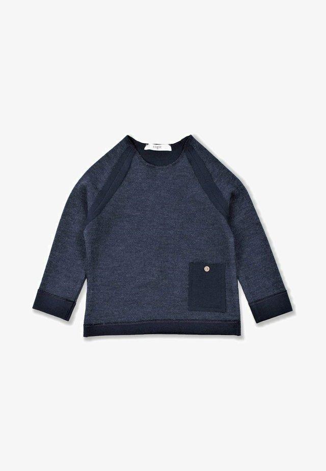 Stylish Stitched Ottoman T-Shirt (2 to 7 years) - Trui - navy blue