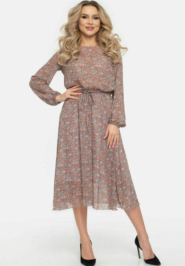 Korte jurk - beigegrau