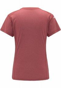 Haglöfs - L.I.M STRIVE TEE - Print T-shirt - maroon red - 5