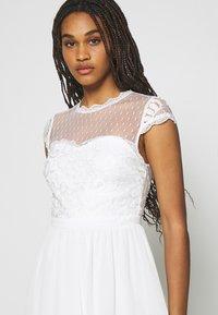 Nly by Nelly - DREAM ON DRESS - Koktejlové šaty/ šaty na párty - white - 4