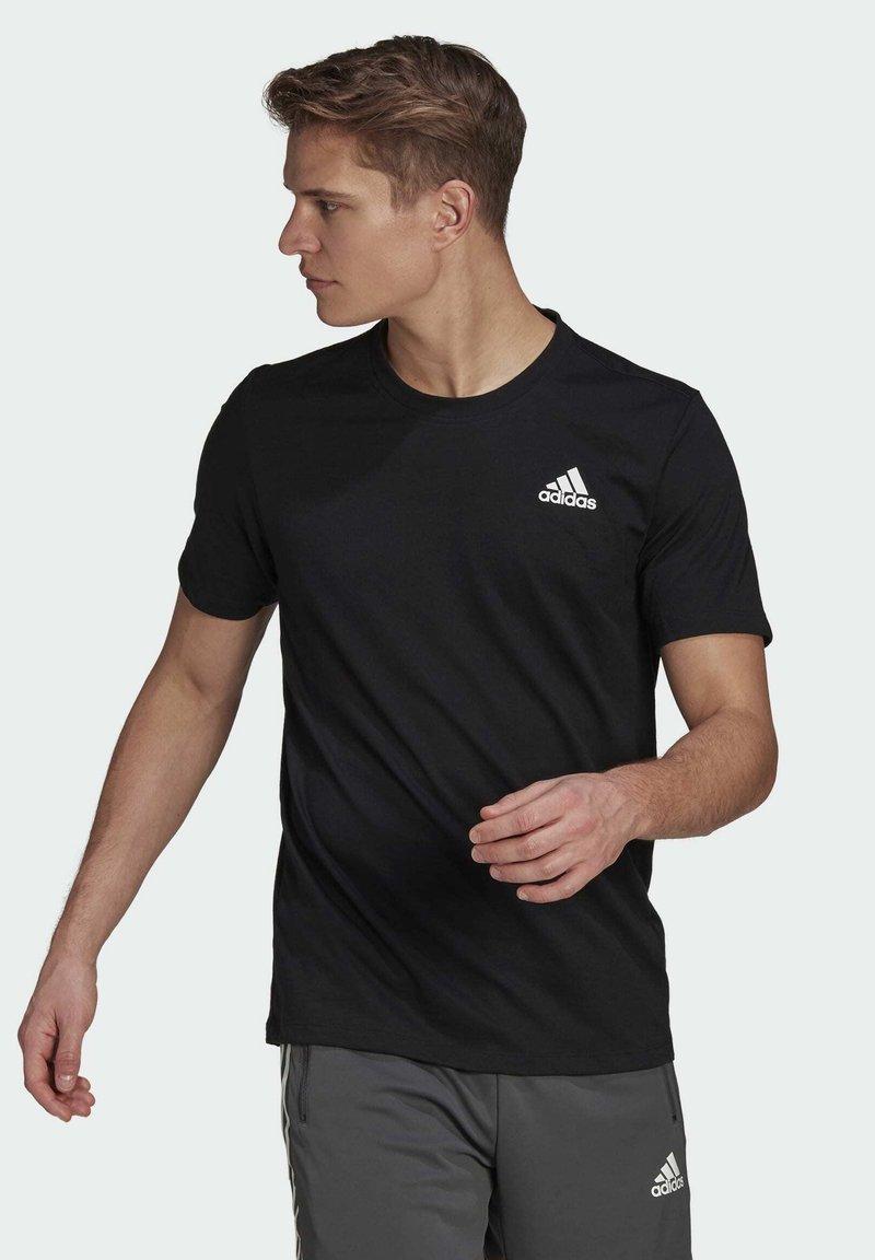 adidas Performance - AEROREADY DESIGNED 2 MOVE SPORT T-SHIRT - T-shirts med print - black