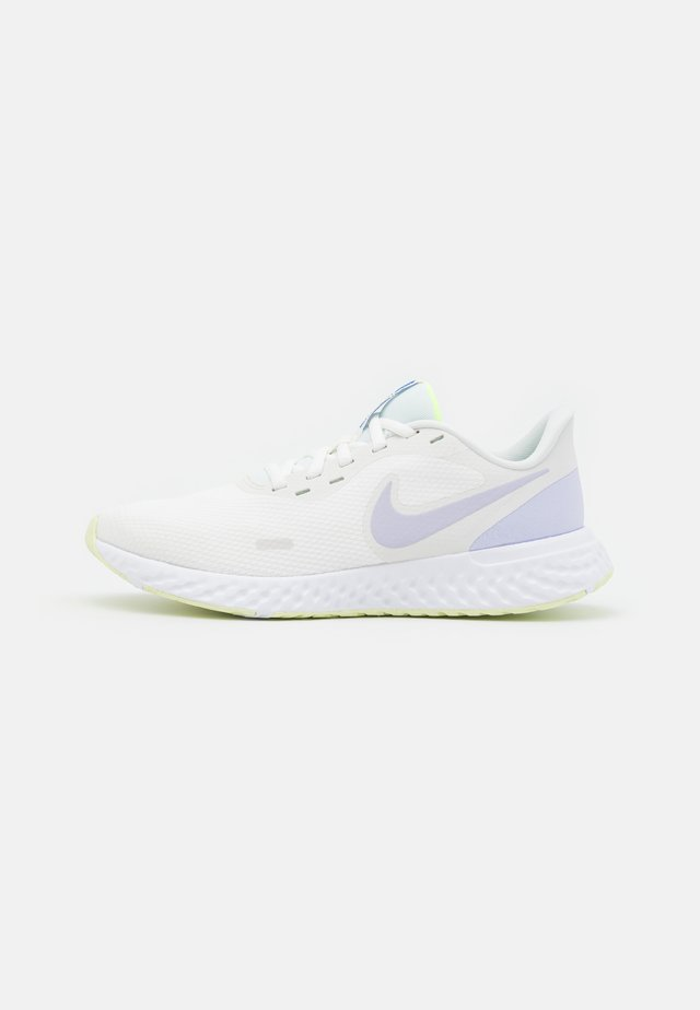 REVOLUTION 5 - Neutral running shoes - summit white/pure violet/lime ice/volt glow/game royal/white