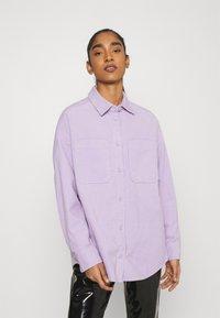Monki - Button-down blouse - purple solid - 0