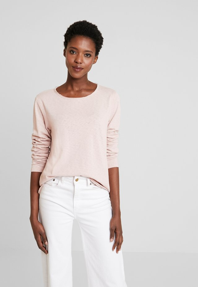 CREW NECK RAW CUT EDGES - Pullover - faded pink