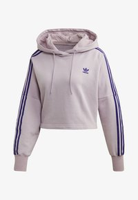 adidas Originals - CROPPED HOODIE - Luvtröja - purple - 6