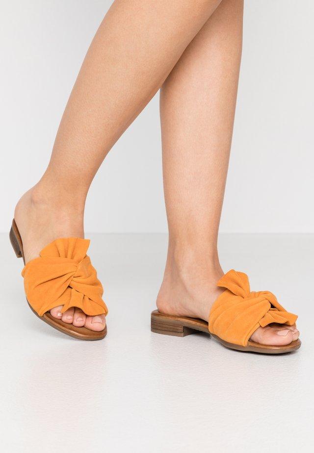 LEATHER - Mules - orange