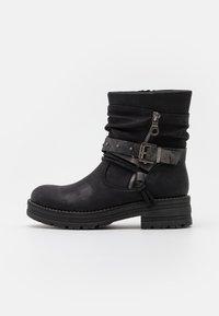 Coolway - REGAN - Cowboy/biker ankle boot - black - 1