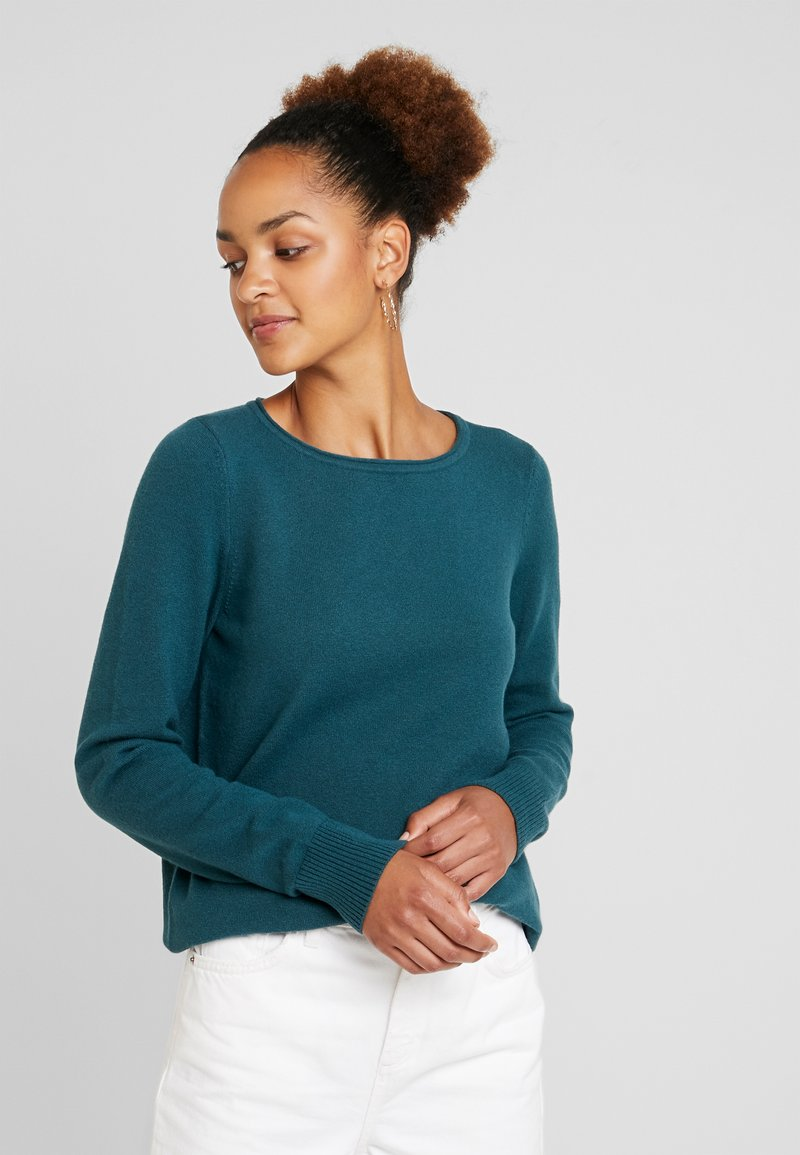 Marc O'Polo - LONGSLEEVE BASIC - Jumper - dusky emerald