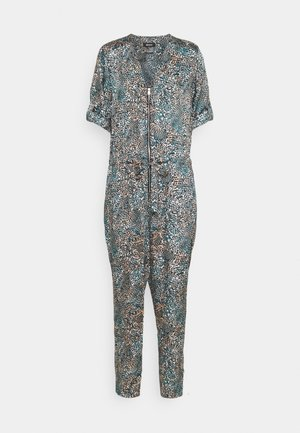 PRINTED ZIP FRON - Jumpsuit - gim gem/multi