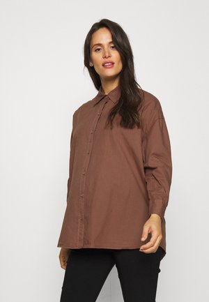MATERNITY DAD - Button-down blouse - coco bean