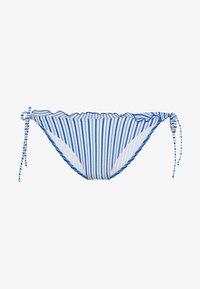 SEERSUCKER STRING SIDETIE - Bikini bottoms - seersucker blue