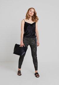 Dranella - DREBEA PANT TESSA FIT - Trousers - black - 1
