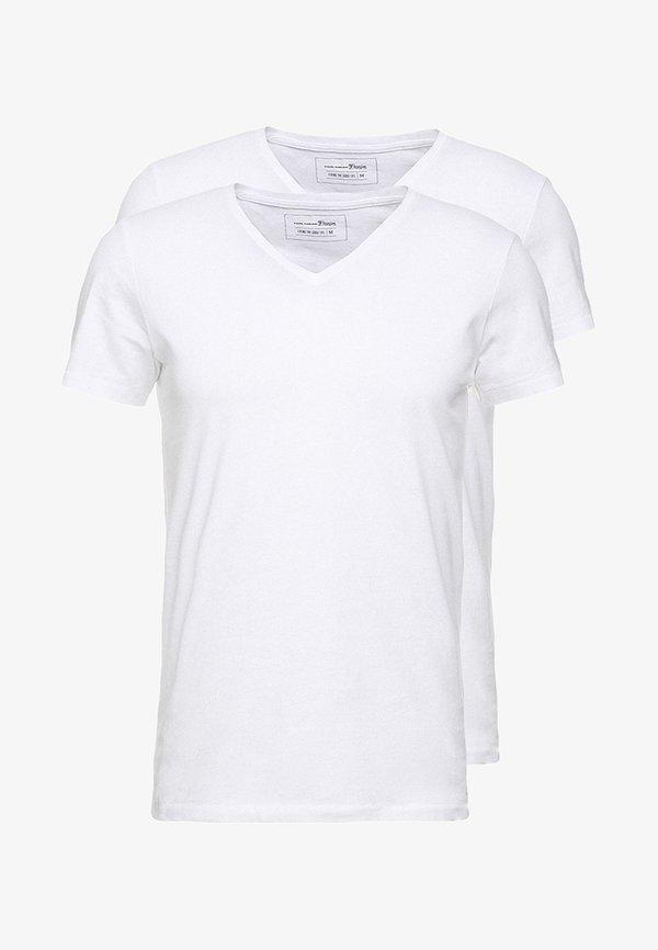 TOM TAILOR DENIM 2 PACK - T-shirt basic - white/biały Odzież Męska NZTW