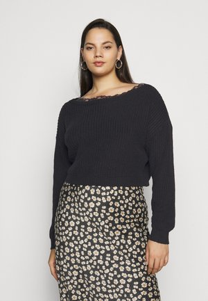 SHOULDER JUMPER - Trui - black