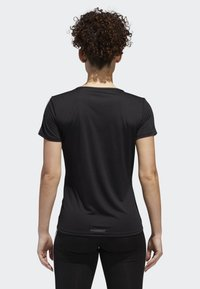 adidas Performance - RUNNING 3-STRIPES T-SHIRT - T-Shirt print - black - 1