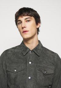Paul Smith - GENTS - Kožená bunda - dark grey - 3