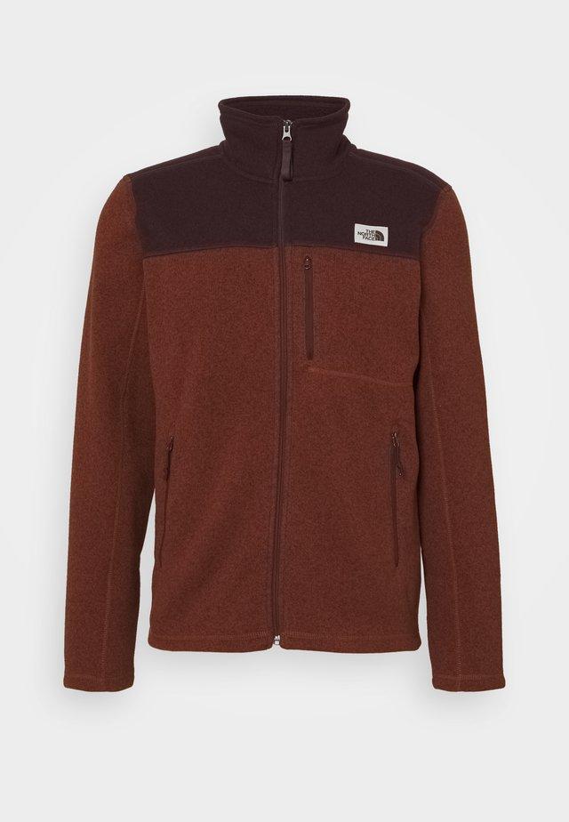 GORDON LYONS FULL ZIP - Fleece jacket - brown