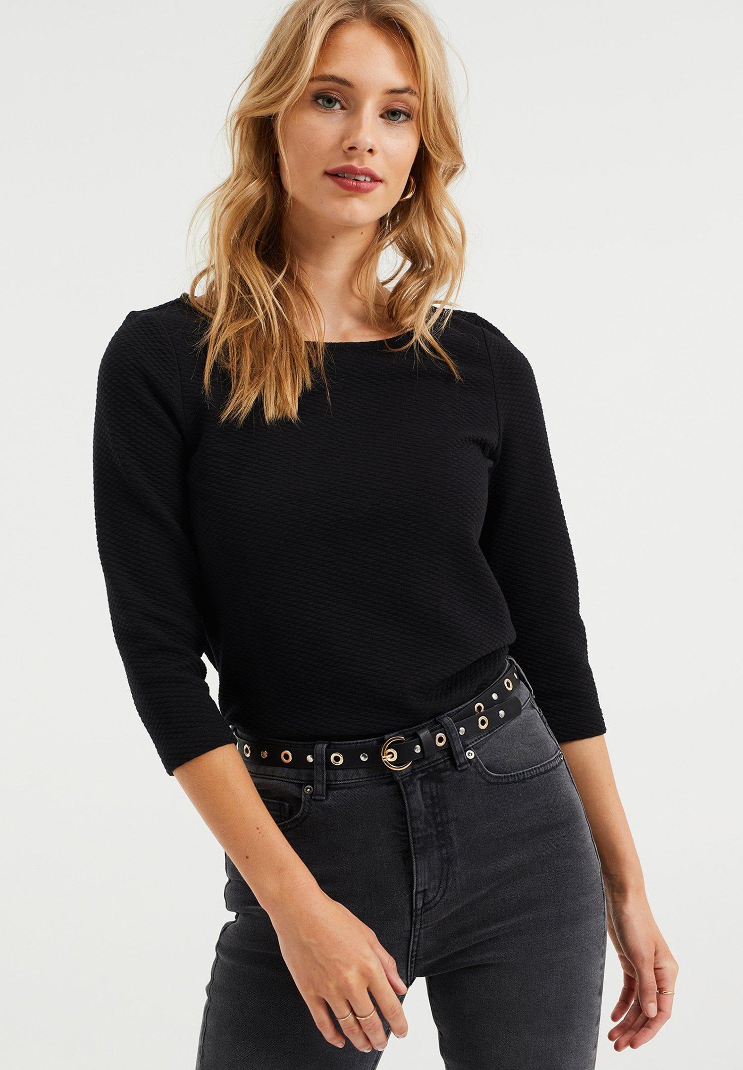Donna DAMES MET STRUCTUUR - Maglietta a manica lunga