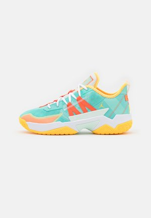 ONE TAKE II - Zapatillas de baloncesto - tropical twist/turf orange/citron pulse/white/barely green