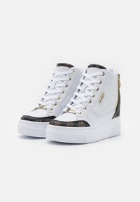 Guess - RIGGZ - High-top trainers - white/brown - 2