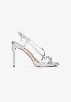 LAZURITE - High heeled sandals - silver