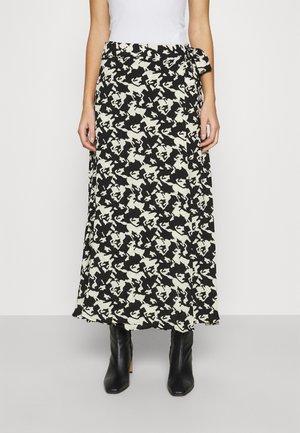 BOBO SKIRT - Wrap skirt - black/warm white