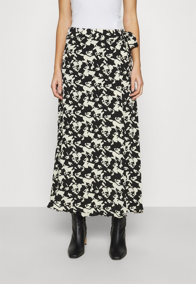 BOBO SKIRT - Tubenederdele - black/warm white