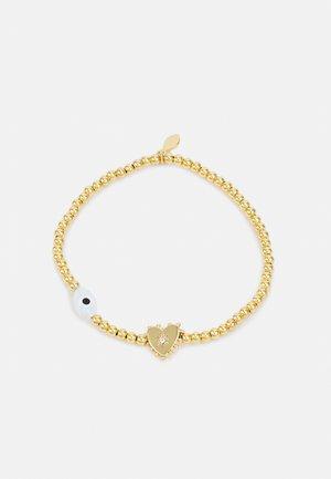 STRETCH BRACELET WITH CHARMS - Bracelet - gold-coloured