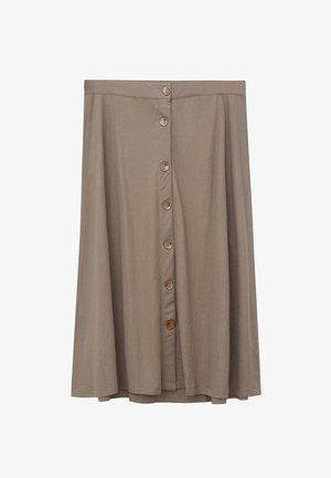 PATRICIA - Pleated skirt - khaki