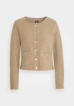 VMESTELLE BUTTON - Strickjacke - beige