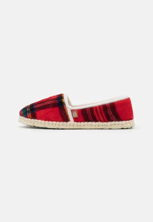 PANTOUFLE CLASSIC CHECK - Slippers - rouge