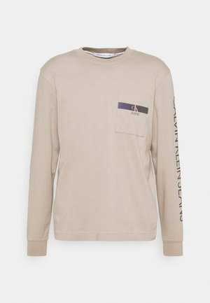 IRIDESCENT POCKET TEE UNISEX - Long sleeved top - beige