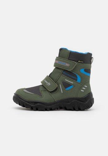 HUSKY - Winter boots - grün/blau