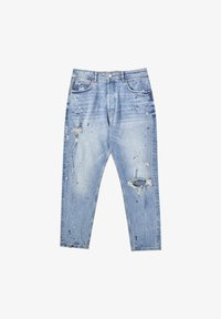 PULL&BEAR - Straight leg jeans - mottled dark blue - 5