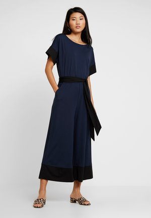 SLEEVE TIE WAIST CROPPED WIDE - Tuta jumpsuit - preppy navy
