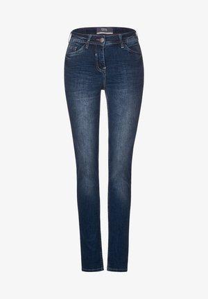 DUNKELBLAUE TIGHT FIT DENIM - Slim fit jeans - blau