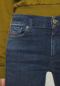 Diesel - D-ROISIN - Jeans Skinny Fit - washed black - 5