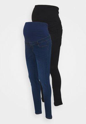 OVER BUMP ELLIS SKINNY 2 PACK - Jeans Skinny Fit - midwash/black