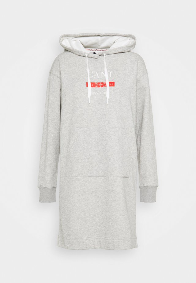 NAUTICAL HOODIE DRESS - Denní šaty - light grey melange