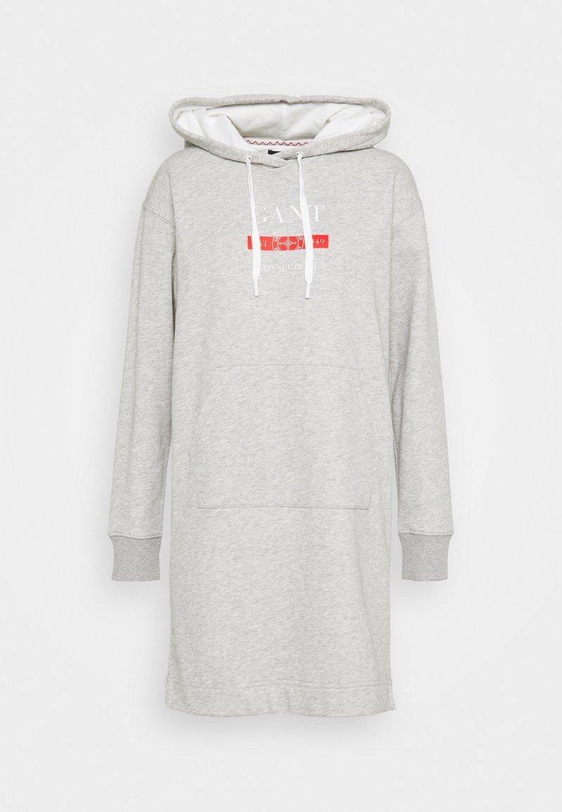 GANT - NAUTICAL HOODIE DRESS - Denní šaty - light grey melange