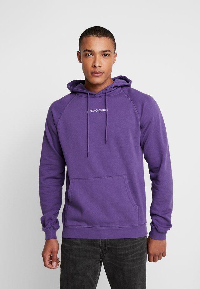 JUMPING LETTERS HOOD - Sweat à capuche - purple
