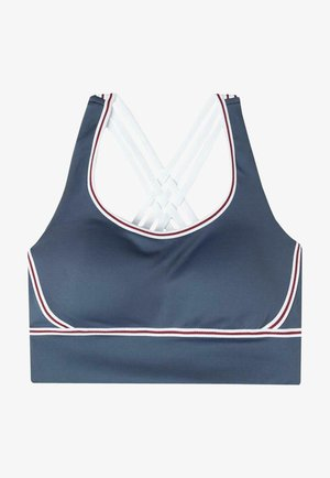 MIT INNENSEITE AUS SUPIMA - Brassières de sport à maintien normal - blau diamond blue/white
