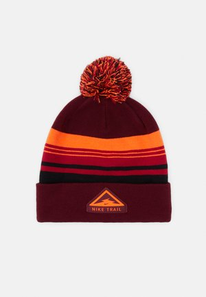 BEANIE CUFFED TRAIL - Gorro - dark beetroot