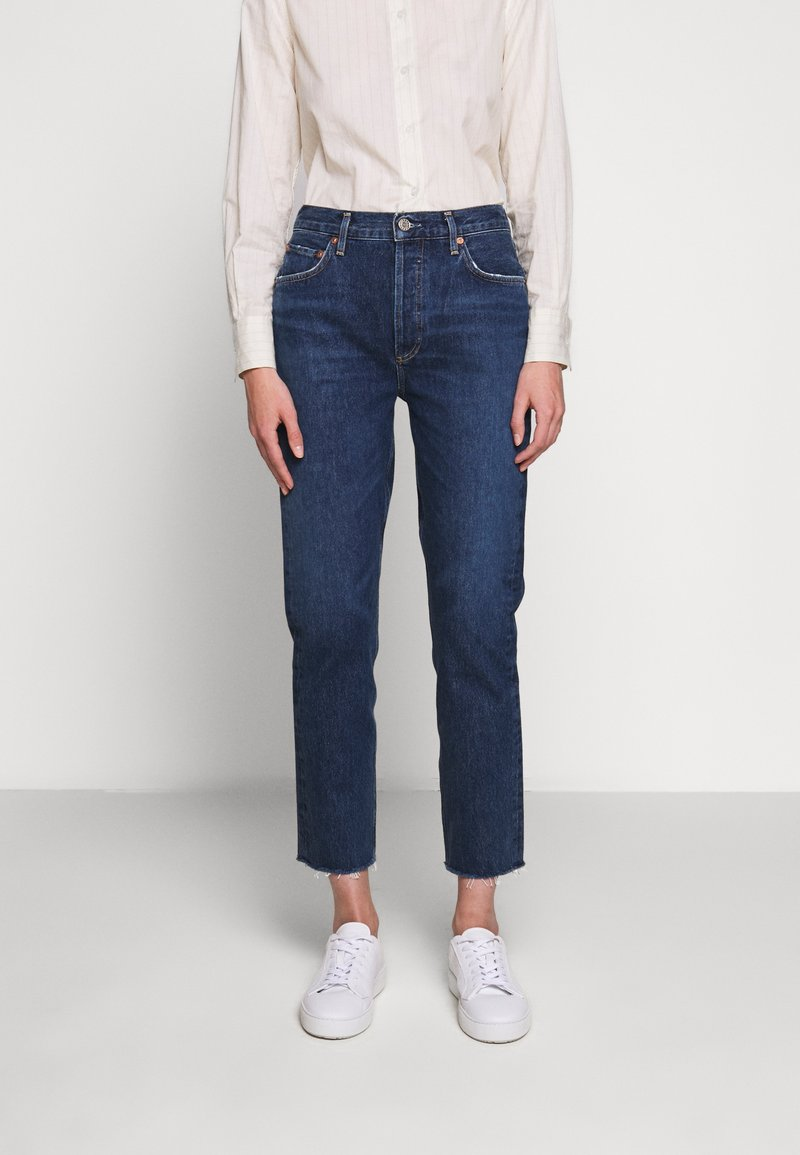 Agolde - REMY - Jeansy Straight Leg - blue denim